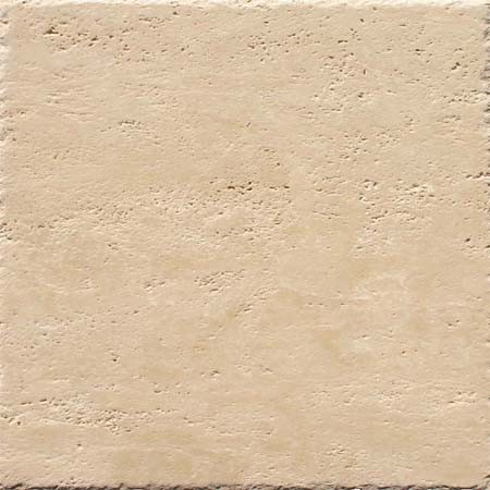 Light Travertine Tile Chipped Edge - Brushed and Unfilled