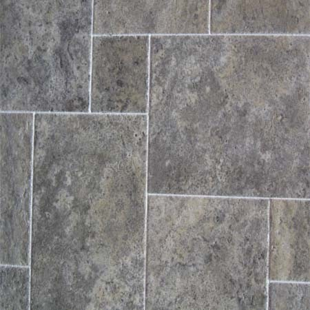 Silver Travertine Honed and Filled