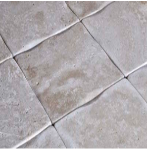 Light Travertine Wavy Edge Unfilled