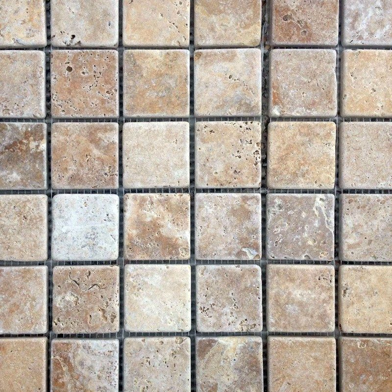 Noce Travertine Mosaic