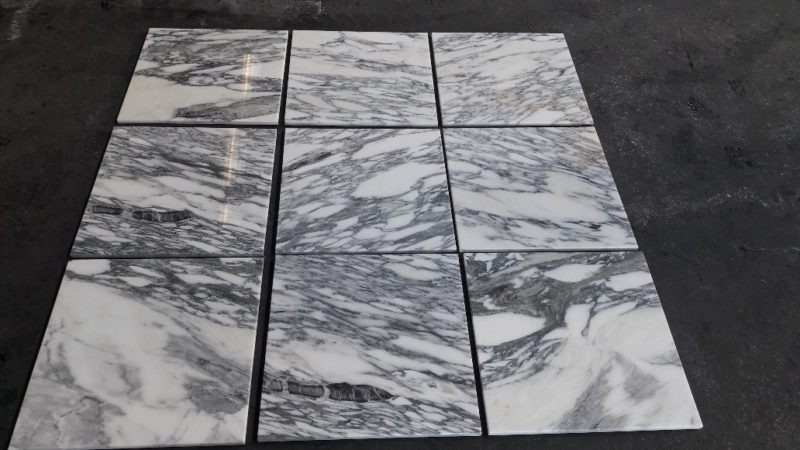 Arabescato Corchia Polished and Bevelled Marble 400x400x13 (mm)