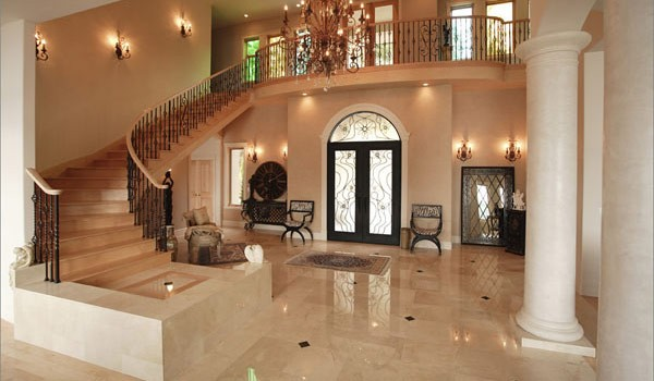 Crema Marfil Marble Hallway